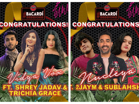 Vidya Vox and Nucleya announce winners for BACARDÍ Sessions Season 4