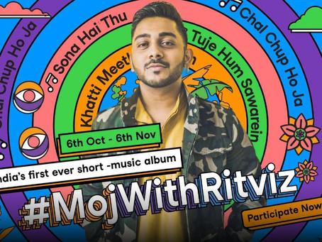 Moj launches world's first short music album with internet music sensation Ritviz