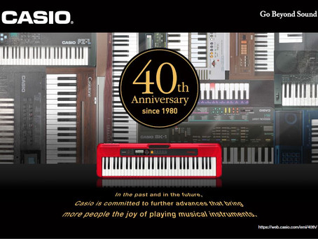 Casio's electronic musical instruments turn 40!