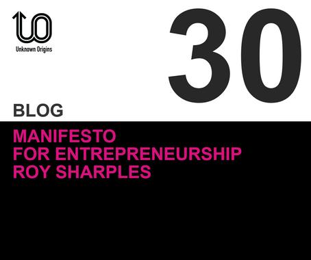 Manifesto for  Entrepreneurship