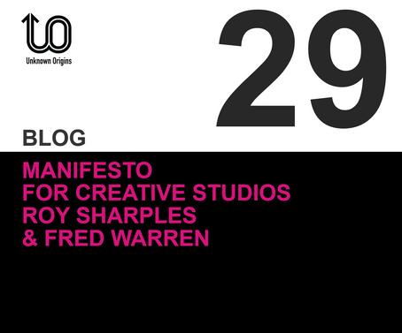 Manifesto for  Creative Studios