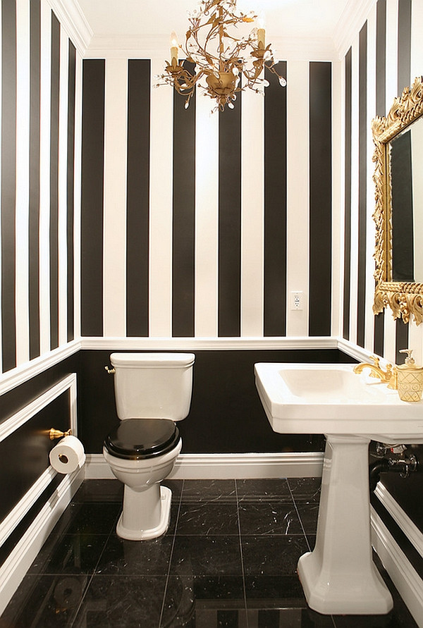 Black & White works even in the Powder Room.