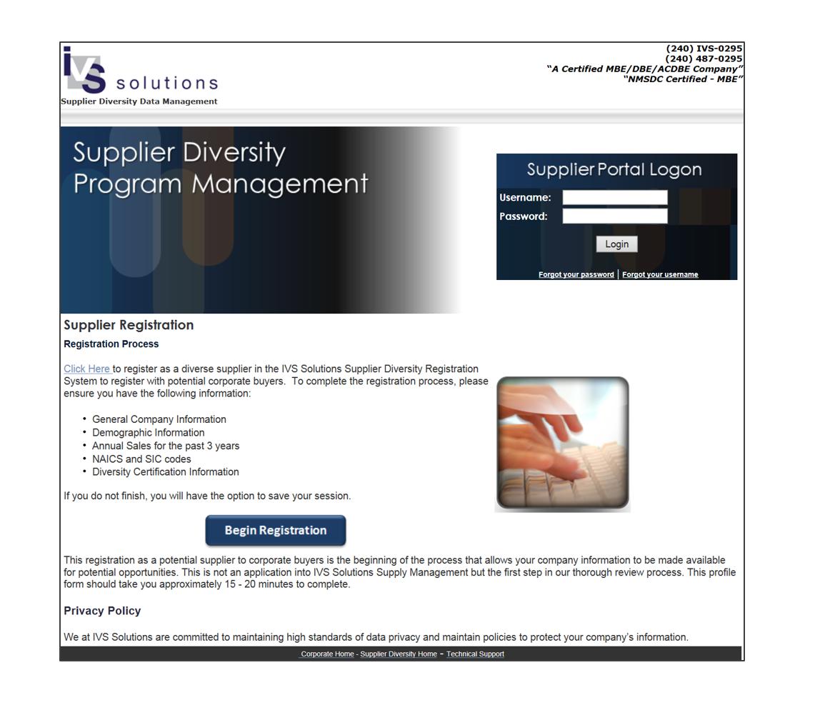 Registration Portal Demo