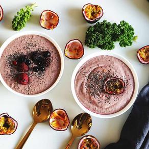Detox Smoothie Bowl med pasjonsfrukt & grønnkål