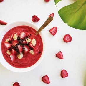 Jordbær sorbet med kun 2 ingredienser