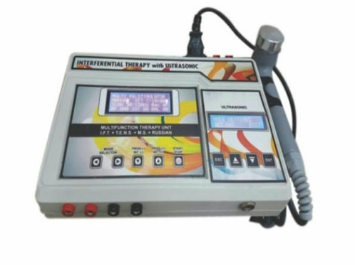 Interferential Therapy With  Ultrasonic ( fiber )