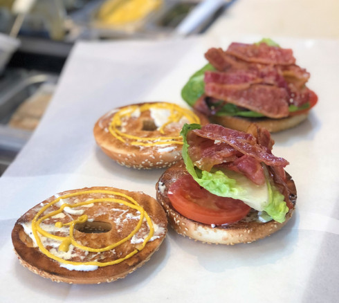 BLT on bagels