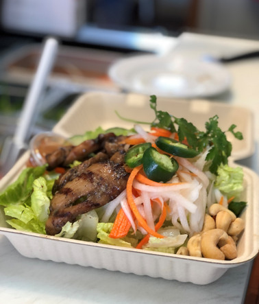 BBQ chicken Vietnamese salad