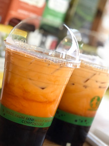 Thai tea boba (over ice)