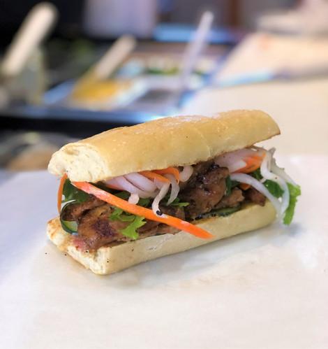 BBQ chicken Vietnamese sandwich