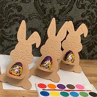Easter wooden creme egg painting sets holder