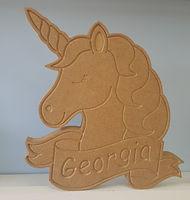 Wooden Unicorn sign