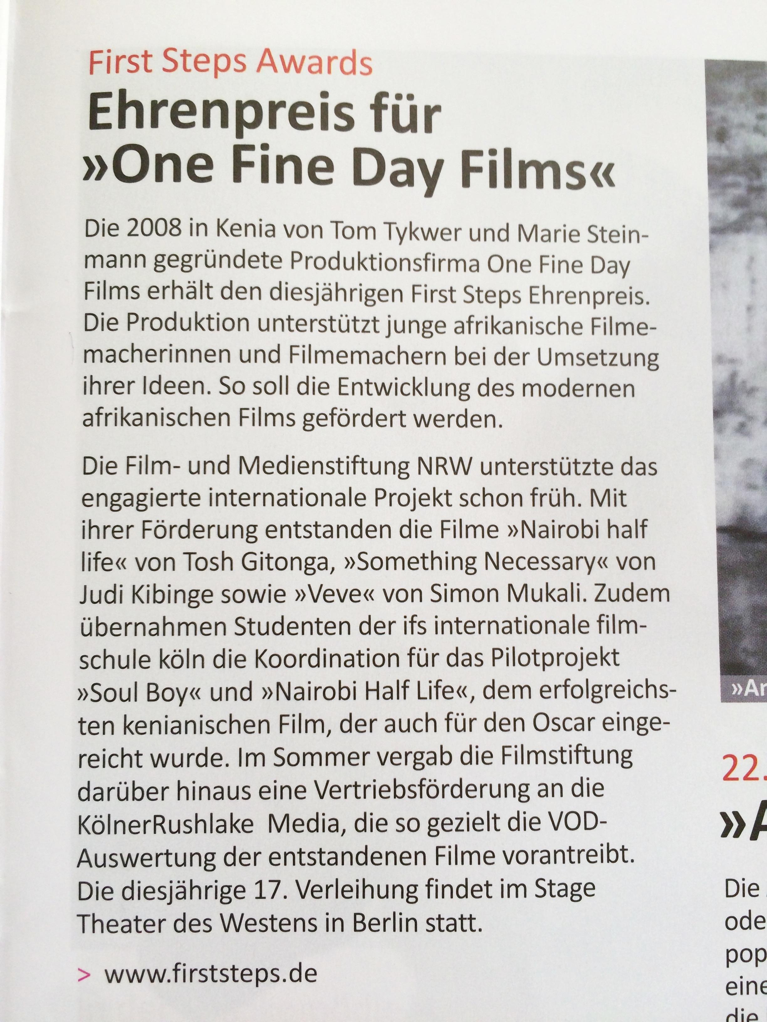 Film und Medien NRW - Das Magazin