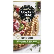 Always Fresh Grissini Rosemary & Sea Salt 125g