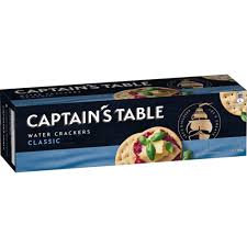 Captian's Table Water Crackers 125g