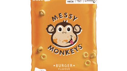 Messy Monkey Whole Grain Bites Burger Flavour 8 Pack