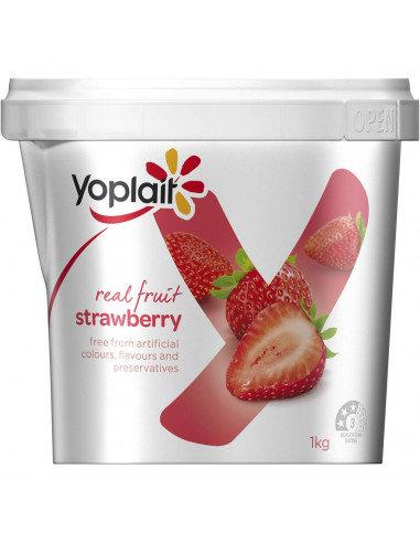 Yoplait Real Fruit Yogurt 1kg Strawberry