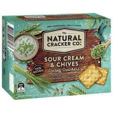 The Natural Cracker Co Sour Cream & Chives 160g