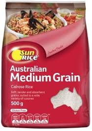 Sun Rice Medium Grain Rice 1kg