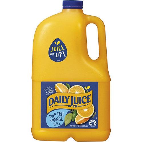 Daily Juice Pulp Free Orange Juice No Added Sugar 3 Litre