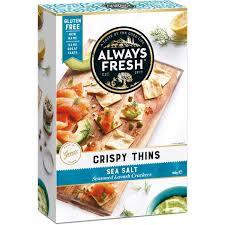 Always Fresh Crispy Thins Sea Salt 100g