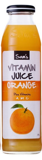 Sam's Vitamin Juice -Orange 375ml
