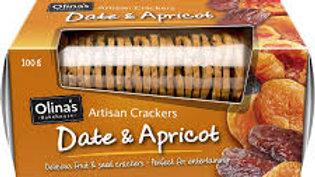 Olina's Date & Apricot Artisan Crackers 100g