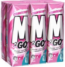 M2GO Strawberry UHT Milk 250ml x6