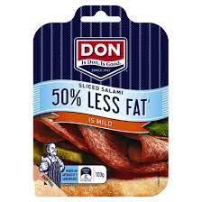 Don Salami Mild 50% Less Fat  100g