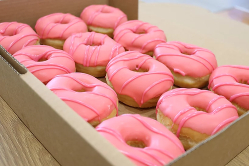 Strawberry Iced Donut 4 Pack