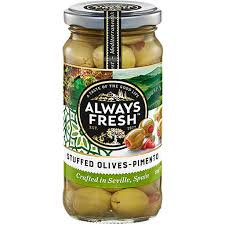 Always Fresh Stuffed Spanish Olives 450g