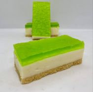 Lime Jelly Cheesecake Slice 10 Pack