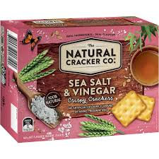 The Natural Cracker Co Sea Salt & Vinegar 160g