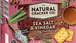 The Natural Cracker Co Sea Salt & Vinegar 160g