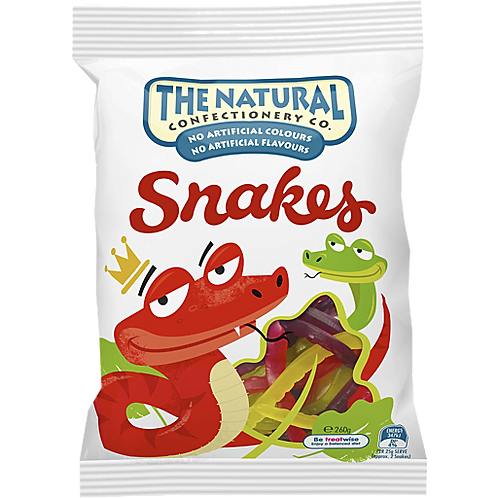 Natural Confectionary Snakes 260g