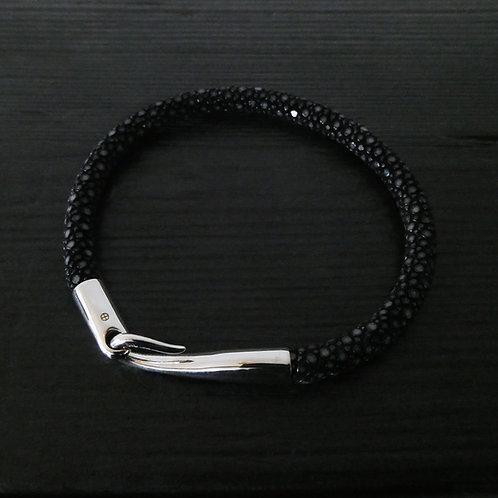"""Bracelet cuir galuchat et fermoir """"Limpide"""""""