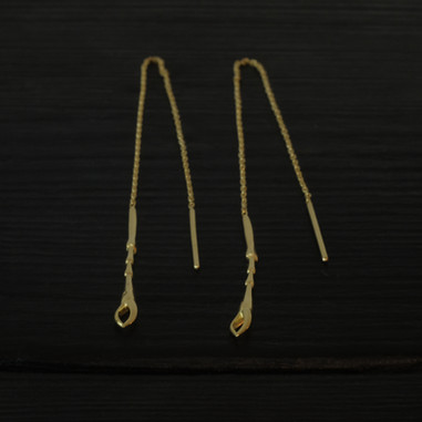 Vermeil scarab legs long  earrings
