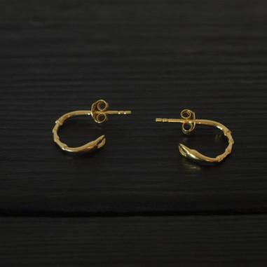 Creole earrings Legs Vermeil
