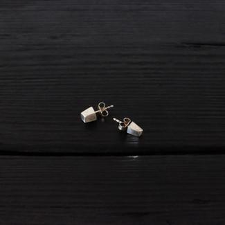 Boucles d'oreilles quartz courts argent 925