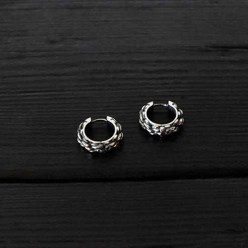 """Boucles d'oreilles anneaux """"Cordage"""""""