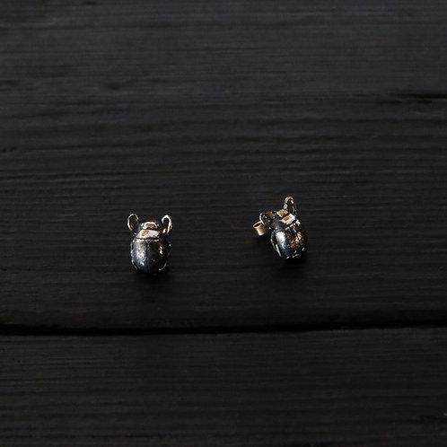 Boucles d'oreilles Scarabée argent 925