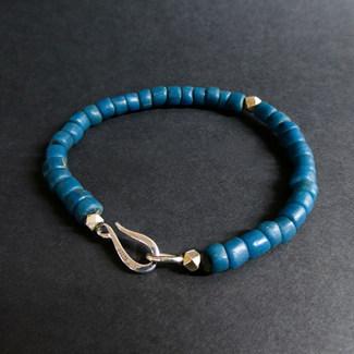 Bracelet perles de verre recyclé