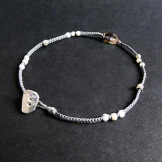 Bracelet macramé précieux / 3 couleurs au choix
