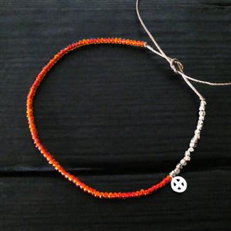 Bracelet perles verre oranges