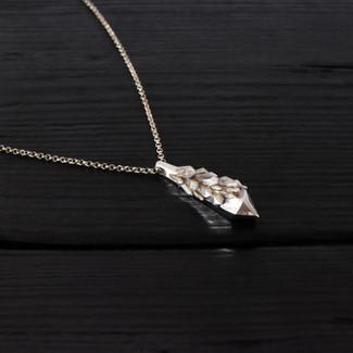 Collier amas quartz argent 925