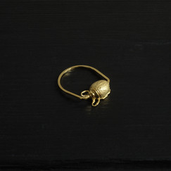 Small vermeil scarab ring