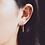 """Thumbnail: Boucles d'oreilles """"Quartz"""" long vermeil"""