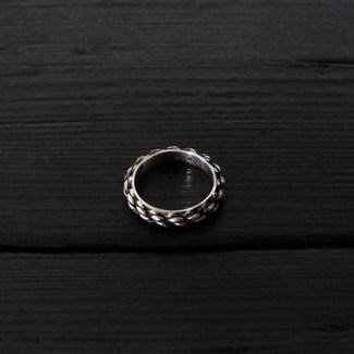 Bague anneau cordage argent 925 patiné