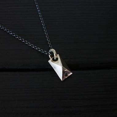 Collier quartz diamant argent 925