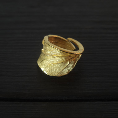 Vermeil scarab wing ring